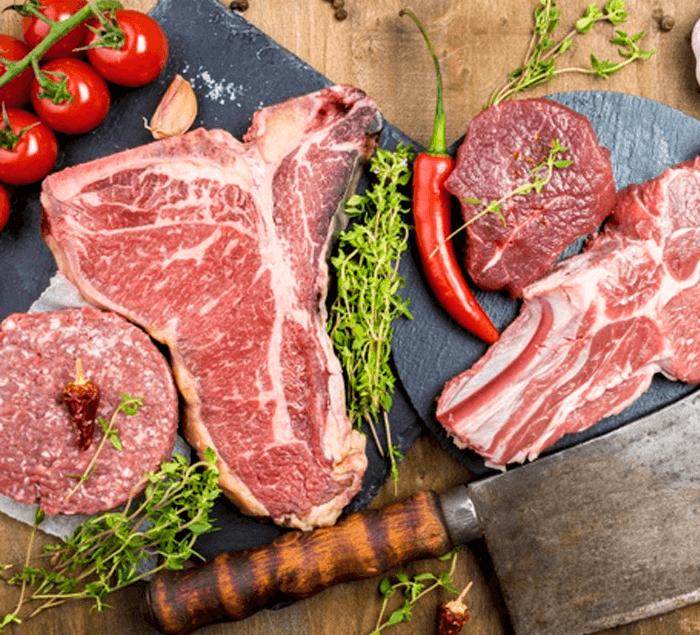 ღორისა და საქონლის ხორცი